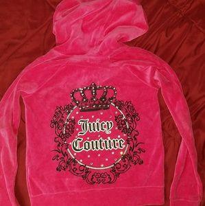 Juicy Couture Hot Pink Velour Hoodie